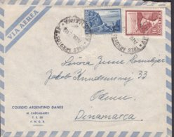 Argentina Via Aerea COLEGIO ARGENTINO DANES, TRES ARROYOS 1962 Cover Letra ODENSE Denmark - Argentinien