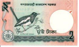 Bangladesh Billet Banknote 2 Taka Oiseau TBE - Bangladesh