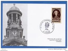 L4K101 FRANCE 1984 Cach. Comm. Festival Européen De La Bétise 59 Cambrai 08 09 1984/CP Illus. YvT 785 - Marcofilie (Brieven)
