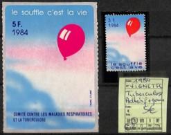 NB - [821714]TB//**/Mnh- 1984 - Vignette Tuberculose Adhésif + Gomme - Malattie