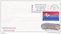 L4K210 FRANCE 1989  Secap Fêtes Du Bicentenaire De La Révolution 21 Brazey En Plaine 14 04 1989 /env.  YvT 2560 - Marcophilie (Lettres)