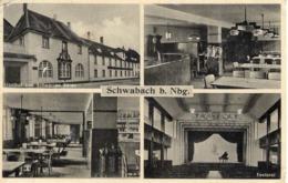 Schwabach Bei Nürnberg - Gasthof Zum Schwarzen Bären Mehrbildkarte Ca 1940 - Nuernberg