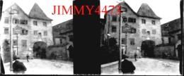 Plaque De Verre En Stéréo - TIROL - HALTESTELLE  STRASSENBAMN - TYROL Autriche - Scans Négatif-Positif - Plaques De Verre
