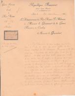 1896 GUINÉE FRANÇAISE - Cercle De RIO-NUNEZ - L'Administrateur Au Gouverneur à CONAKRY - Documents Historiques