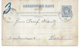 1530t: Wiener Rohrpost 1898, Beleg Lt. Scan - Postwaardestukken