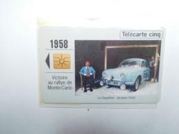 Carte Téléphone Privée , 5U , Auto Renault Dauphine , Sous Blister Ouvert , 25 000 Ex - France