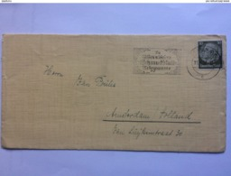 GERMANY 1938 Cover Berlin To Amsterdam With Telegramme Slogan Postmark - Germany