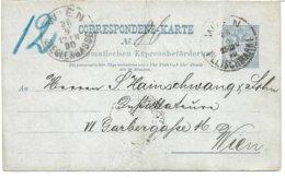 1530q: Österreichische Ostgebiete 1890, Stettin, Firma Germania Befördert Mit Wiener Rohrpost Fleischmarkt >Zieglergasse - ....-1919 Provisional Government