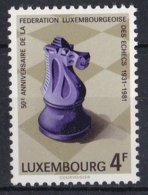 Luxemburg - 50 Jahre Luxemburger Schachverband - MNH - M 1033 - Schaken