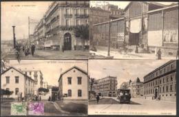 Alger - Lot 4 Cartes (animée, Attelage Tram...) - Alger