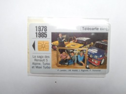 Carte Téléphone Privée , 5U , Auto Renault 5 Alpine , Turbo  , Sous Blister Ouvert , 25 000 Ex - Frankreich