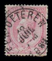 """COB 46 - Obl. """"CONCOURS"""" NEER-OETEREN - 1884-1891 Leopold II."""