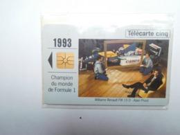 Carte Téléphone Privée , 5U , Auto Renault Williams Renault , FW 15 D , Formule 1  , Sous Blister Ouvert , 25 000 Ex - Frankreich