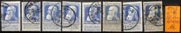 [834924]B/TB//O/Used-Belgique 1905 - N° 76, 25c Bleu, Lot Obl/USED, Familles Royales, Rois - 1905 Grosse Barbe