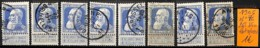[834924]B/TB//O/Used-Belgique 1905 - N° 76, 25c Bleu, Lot Obl/USED, Familles Royales, Rois - 1905 Thick Beard