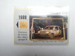 Carte Téléphone Privée , 5U , Auto Renault 5 GT Turbo , Sous Blister Ouvert , 25 000 Ex - Frankreich