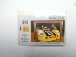 Carte Téléphone Privée , 5U , Auto Renault Alpine A 442 , Jaussaud , 24 Heures Du Mans , Sous Blister Ouvert , 25 000 Ex - France
