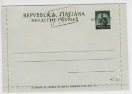 Trieste A, Biglietto Postale B 1A Nuovo (05355) - 7. Trieste