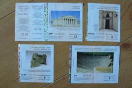 Grèce - 4 Tickets D'entrée De Différents Sites Ou Monuments (Voir Scans) - Tickets D'entrée
