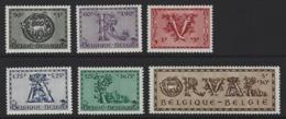A44 - Belgium - 1943 - OBP 625/630 MNH - Orval - Belgien