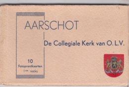 Aarschot  De Collegiale Kerk  O.l.v. 10 Postkaarten Compleet - Aarschot