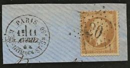 France Etoile 20 Sur Fragment / YT 28A Paris R. St Dominique 11/04/74 - 1862 Napoléon III