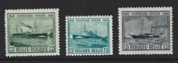 A44 - Belgium - 1946 - OBP 725/727 MNH - Oostende - Dover - Ungebraucht