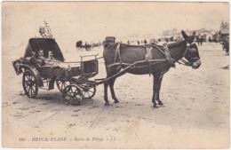 62 - BERCK-PLAGE - Scène De Plage - LL / 1924 / Ane Tirant Une Carriole - Berck