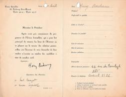 Henry BORDEAUX (1870-1963) Romancier Et Essayiste - Académie Française 1919 - - Documents Historiques