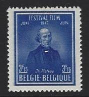 A44 - Belgium - 1947 - OBP 748 MNH - Festival Film - Joseph Plateau - Nuevos