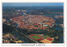 1 AK Germany / Schleswig-Holstein * Die Altstadt Von Lübeck - Luftbildaufnahme - Seit 1987 UNESCO Weltkulturerbe * - Lübeck