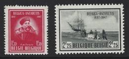 A44 - Belgium - 1947 - OBP 749/750 MNH - Belgica / Gerlache / Ship / Antartica - België