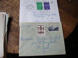 Lot 15 Lettre Affranchissement Philatelique Annees 50 Voir Photo - Poststempel (Briefe)
