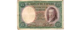 Espagne   - 25 Pesetas 25/4/1931     --   Pick  # 81  -  état  TB  - - [ 2] 1931-1936 : Repubblica