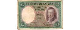 Espagne   - 25 Pesetas 25/4/1931     --   Pick  # 81  -  état  TB  - - [ 2] 1931-1936 : Republiek