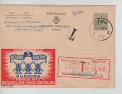 3402/ Entier CP Publibel 1309 C.Izegem 1962 Griffe T > BXL Taxée 1,60 F Par Taxe Mécanique - Stamped Stationery