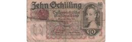 Autriche  - 10 Schilling  2/2/1946    --   Pick  # 122  -  état B - Austria
