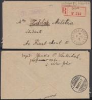 SERBIE RECOMMANDE TRESOR ET POSTES 504 08/12/1917 VERS LAUSANE +CENSURE SERBE (8G33237) DC-3938 - Marcophilie (Lettres)