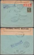 SERBIE RECOMMANDE TRESOR ET POSTES 504 28/05/1917 VERS SUISSE +CENSURE SERBE (8G33237) DC-3940 - Marcophilie (Lettres)