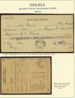 SERBIE 2 BORDEREAUX SECTEUR 899 DATE 1918 (8G33237) DC-3971 - Marcophilie (Lettres)