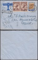 CONGO COB 177 X2+206 SUR LETTRE  PAR AVION DE LUEBO 30/09/1939  VERS GAND (DD) DC-4004 - Congo Belge