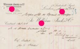 LONDON 1906 WILLIAM JACKS METAL MERCHANTS - Reino Unido