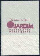 Portugal Mini Serviette Papier Paper Napkin Pastelaria Jardim Monte Gordo - Serviettes Publicitaires