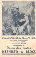 A-19-3903 : CYCLISME. LOUISON BOBET. BICYCLETTE STELLA. CHAMPION DU MONDE 1950. JANTES PEPHISTO A BLOCS - Cycling