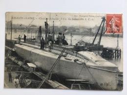 AK Chalon S Saône Chantiers Schneider & Cie Submersible Submarine U-boot Unterseeboot - Ausrüstung