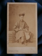 Photo CDV Bertall à Paris - Chine, Chinois En Costume Traditionnel, Chinese Man, Exposition 1867 Second Empire L441 - Anciennes (Av. 1900)