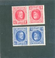 1922 BELGIQUE TB N) 1 Et 2 ( * ) - Inverted (tête-bêche)