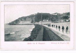 Sulla Via Di Pozzuoli Bagnoli Via Napoli Bersaglieri Ciclisti Linea Tramviaria Inizio 900 - Napoli (Naples)