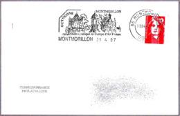 OCTOGONE - Capilla Romanica Siglo XII. Romanesque Art. Montmorillon 1997 - Iglesias Y Catedrales