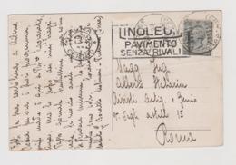 """Piverone (TO) Dalla Serra ,  Targhetta Pubblicitaria """"LINOLEUM PAVIMENTO SENZA RIVALI"""" - F.p. - Anni '1920 - Other Cities"""
